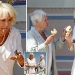 Камила и Джуди Денч сладолед