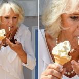 Камила яде сладолед