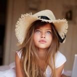 Тилан Блондо като малка