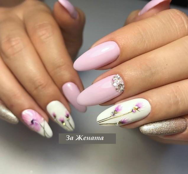 маникюр на дълги нокти
