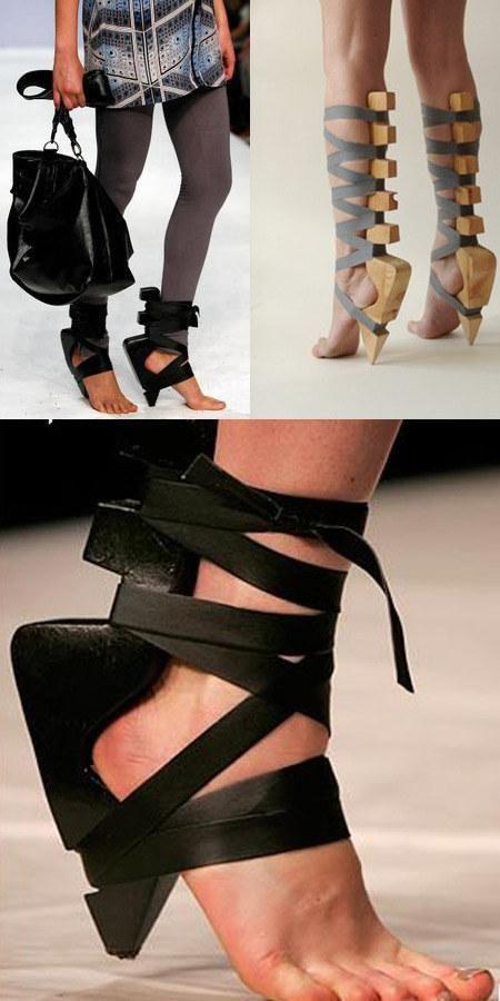 кожени сандали с неудобен ток