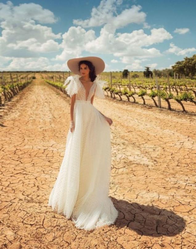 бохо стил сватбена рокля