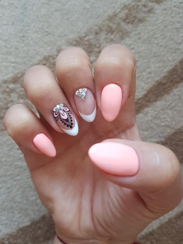 комбинация в розово