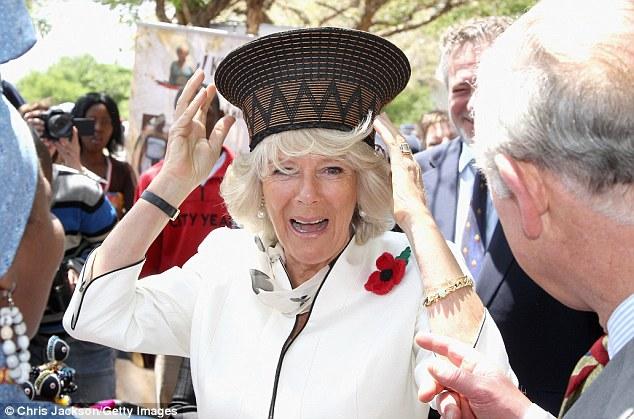 Камила смешна шапка