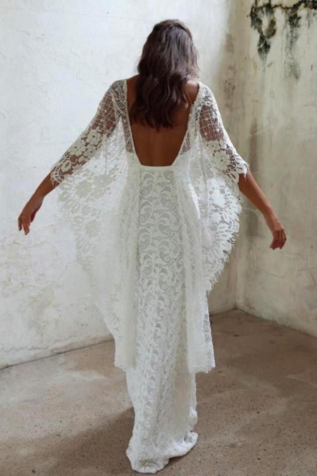 сватбена рокля с гол гръб
