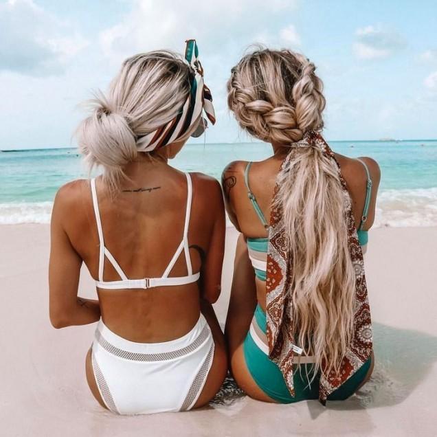 плажни прически за руса коса