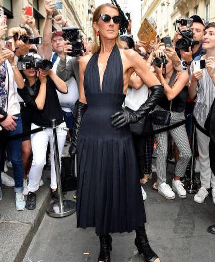 Селин Дион черна рокля