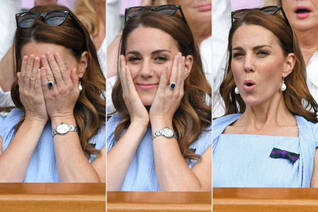 Кейт на трибуните на Уимбълдън