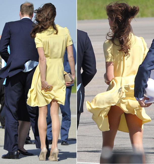 палавата жълта рокля на Кейт Мидълтън