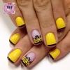 Модерен жълт маникюр