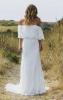 сватбена рокля с паднали рамене