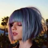 каре синя коса