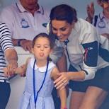 принцеса Шарлот с майка си