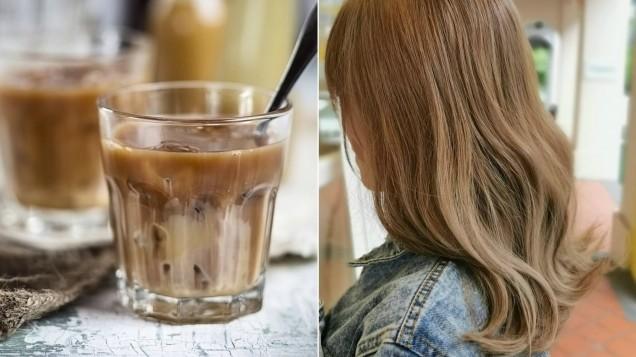 чай с мляко цвят за коса