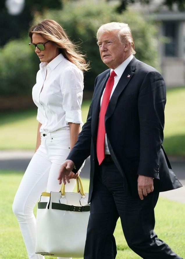 Мелания Тръмп бели джинси