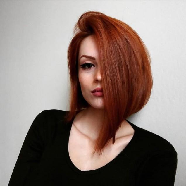 каре на червена коса