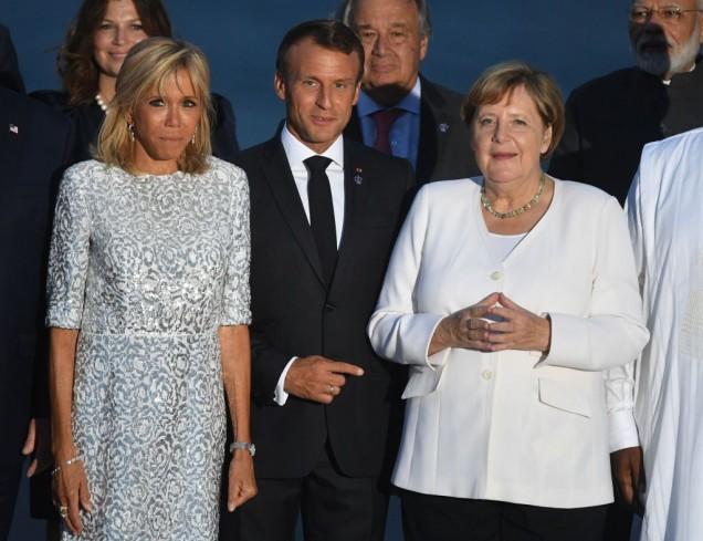 Бриджит Макрон и Ангела Меркел