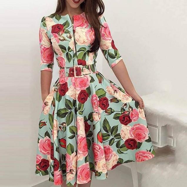 шарена рокля