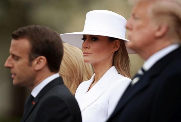 Мелания Тръмп бяла шапка