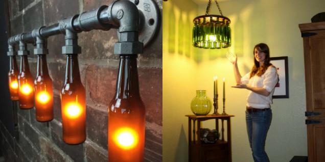 лампи от стъклени бутилки