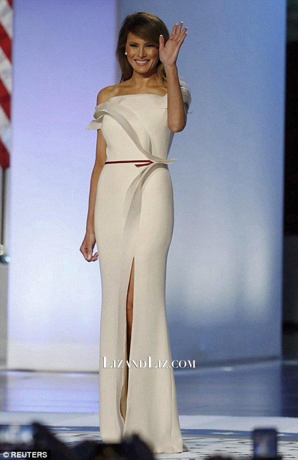 Мелания Тръмп изящна рокля