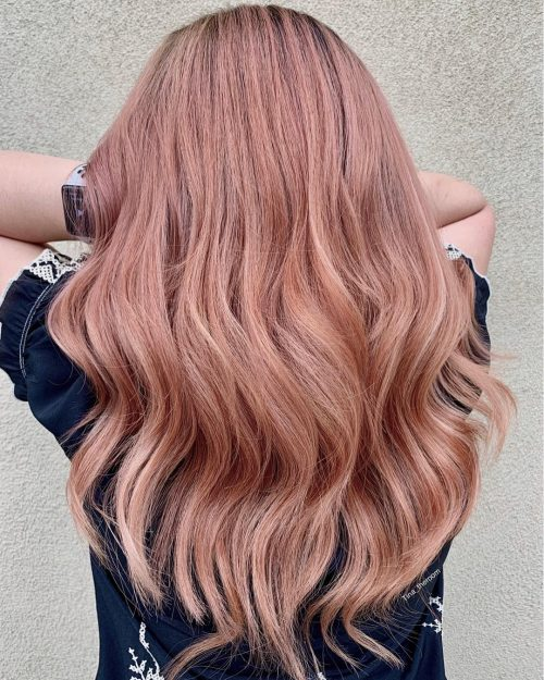 цвят розово злато