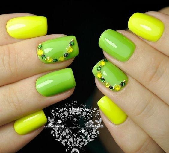 жълто- зелен неон