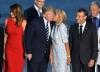 Бриджит Макрон целува Тръмп