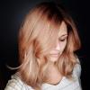 коса с отенък розово злато
