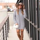 сива рокля-пуловер