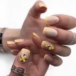 есенен френч жълто с камъни