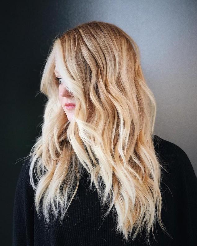 прическа на слоеве за дълга коса