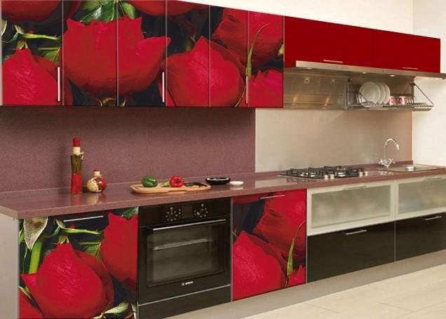 червено-черна кухня
