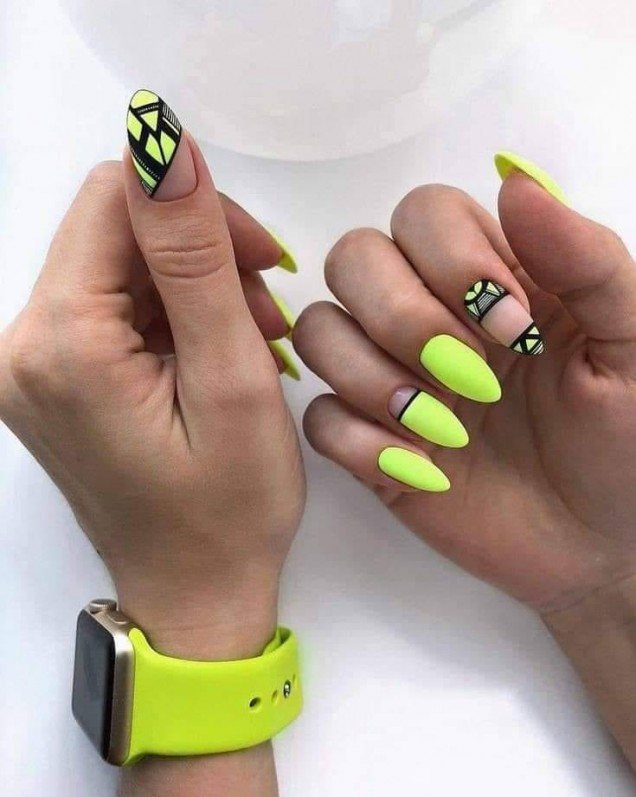 зелен неон