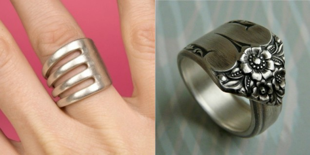 пръстен от стари вилици