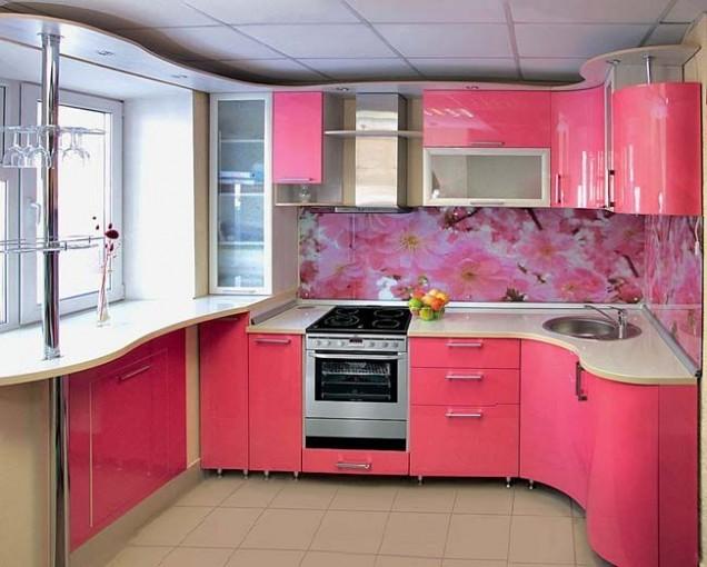 розова кухня 2019