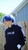 късо каре синя коса