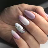нежно розово омбре с кристали