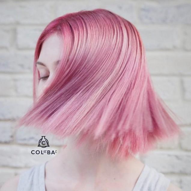 класическо каре в розово