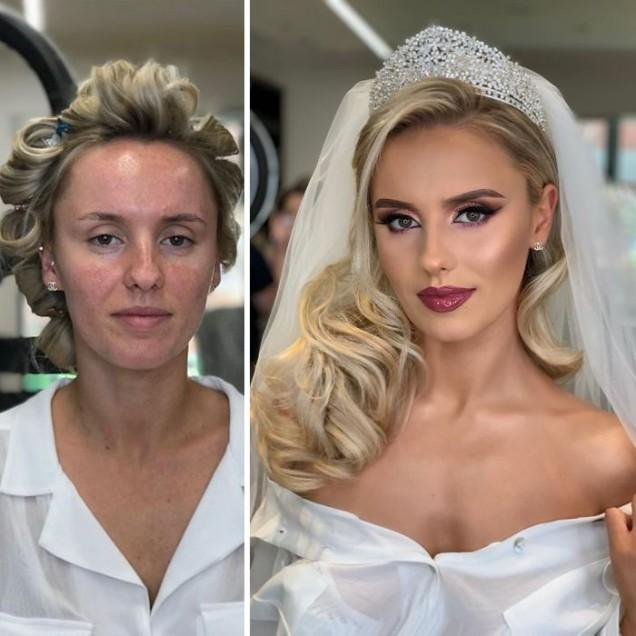 преди и след грим
