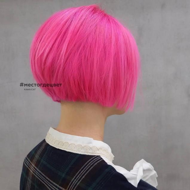 късо розово каре