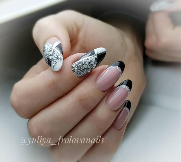 френски черно и бяло