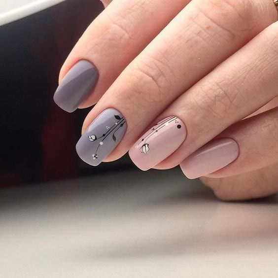 Елегантен маникюр за къси нокти
