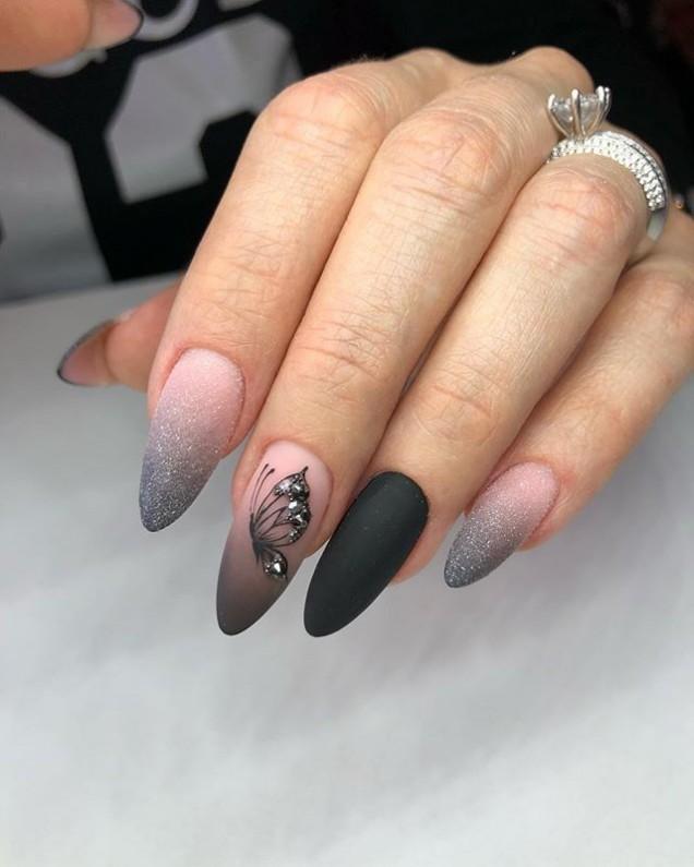 сиво и розово омбре