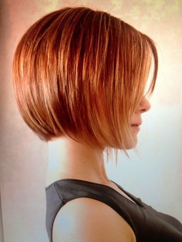 Прическа боб за червена коса