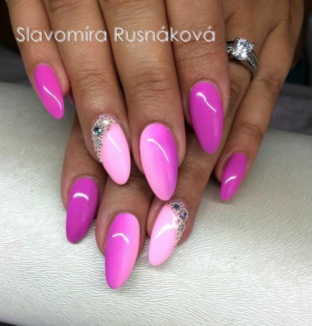 омбре розово