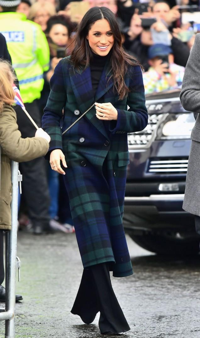 карираното палто на Меган Маркъл