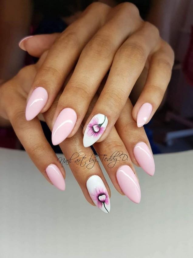 маникюр за остри нокти