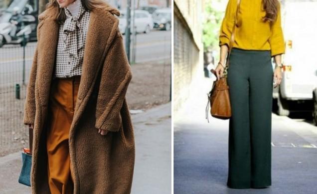 зелн панталон с висока талия