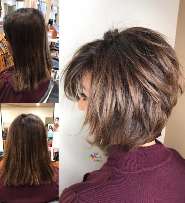 средна дължина коса